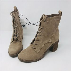 Universal Thread Taupe Persia Lace Up Booties 11M